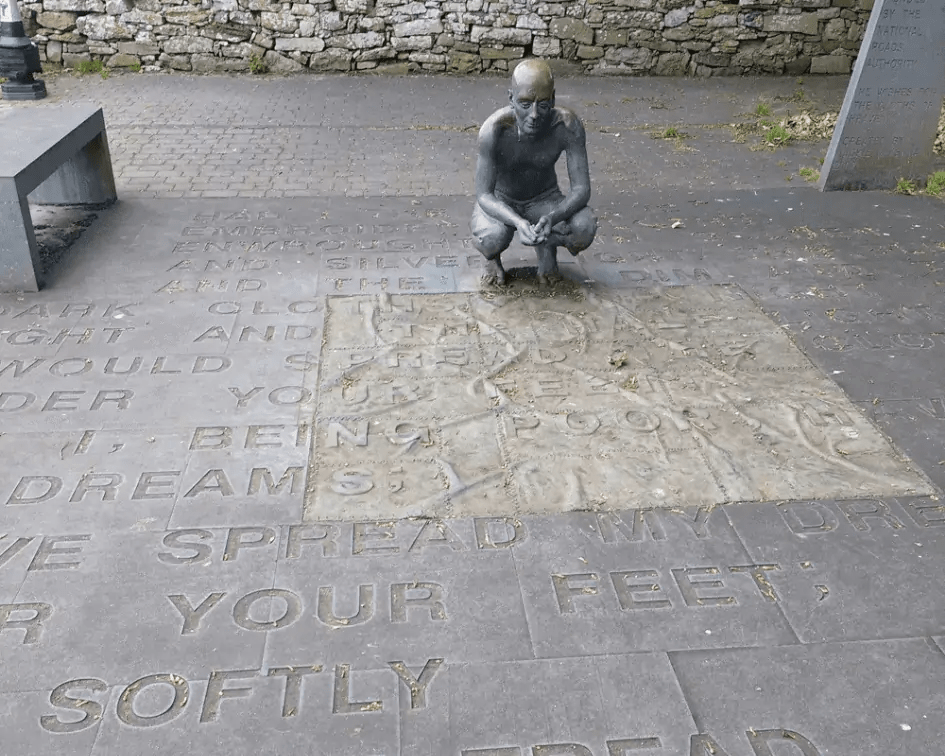 Yeats Statue, Sligo, Ireland by Faith