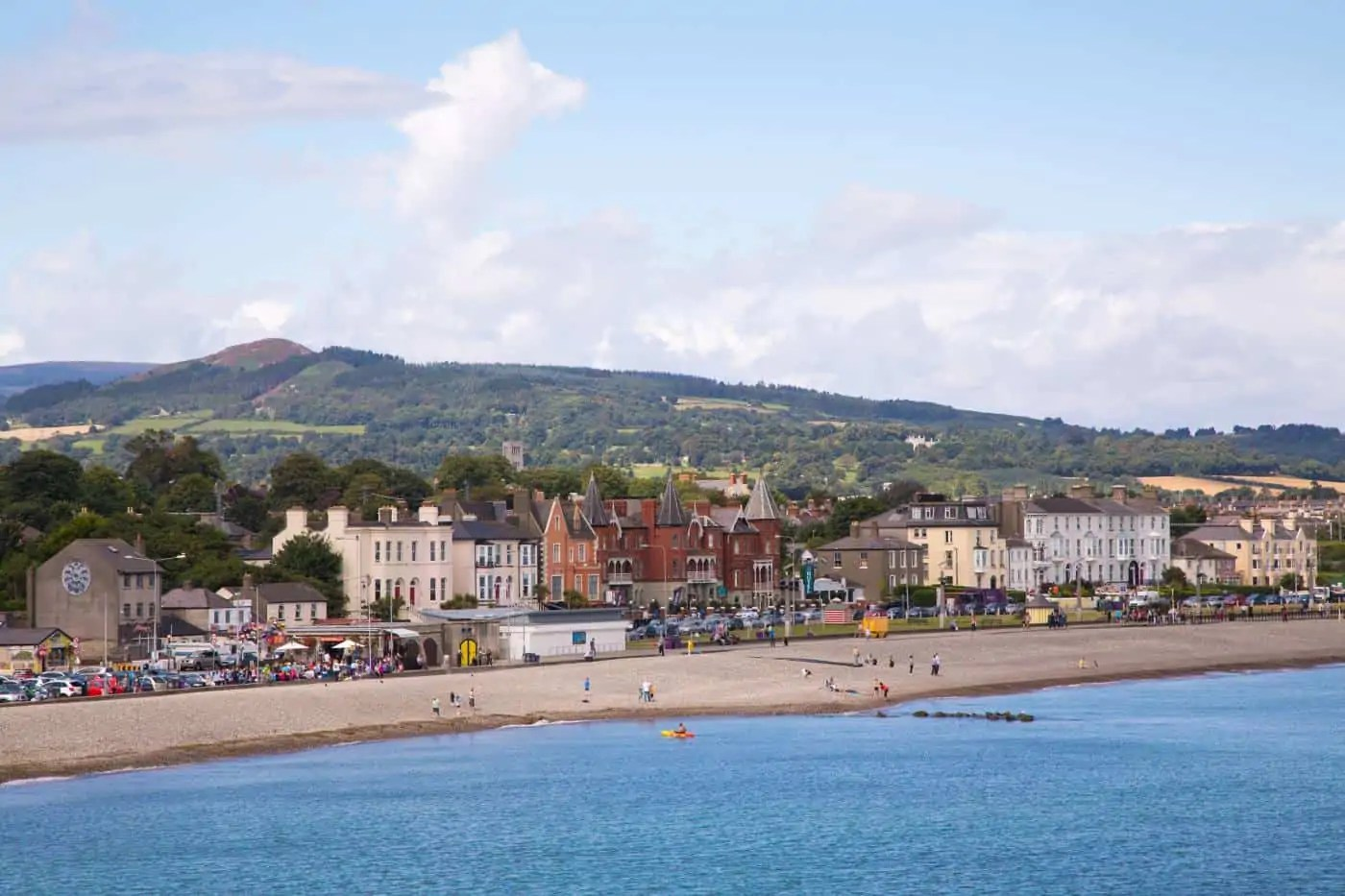 The coastal town of Bray