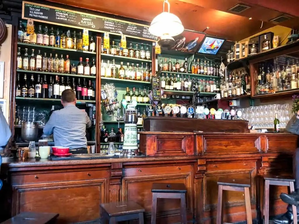 Interior of Tig Neachtain pub in Galway Ireland
