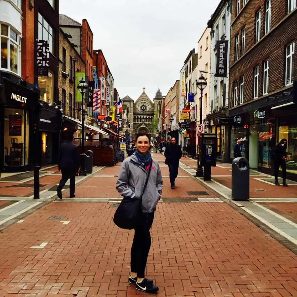Me on Grafton Street during my first trip to Ireland