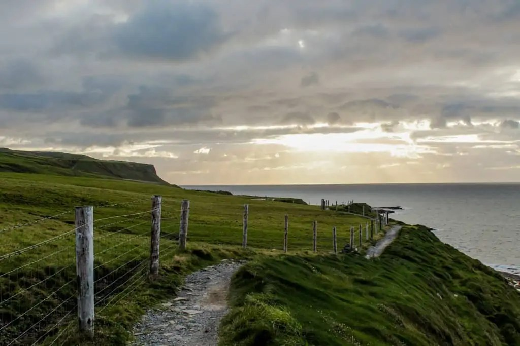 Doolin Coastal Walk at Sunset