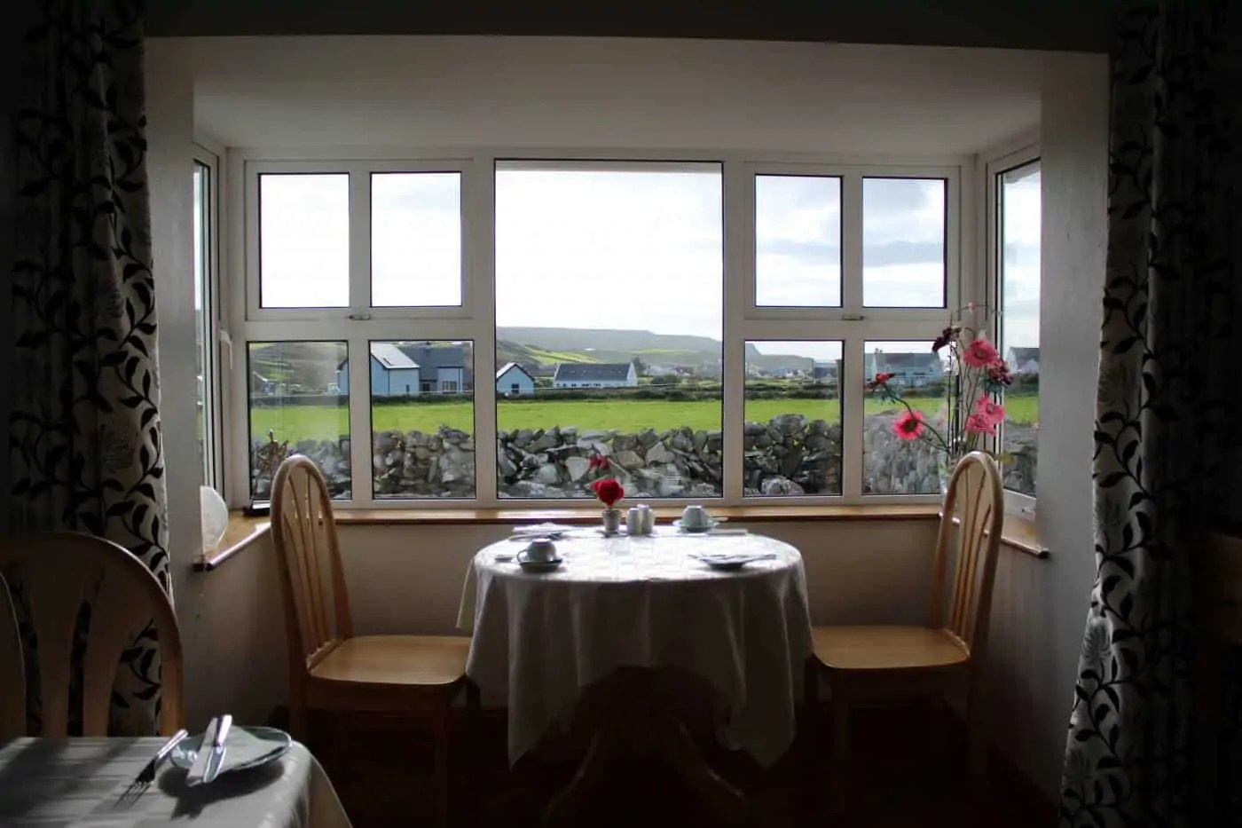 The best breakfast table at Nellie Dee's in Doolin