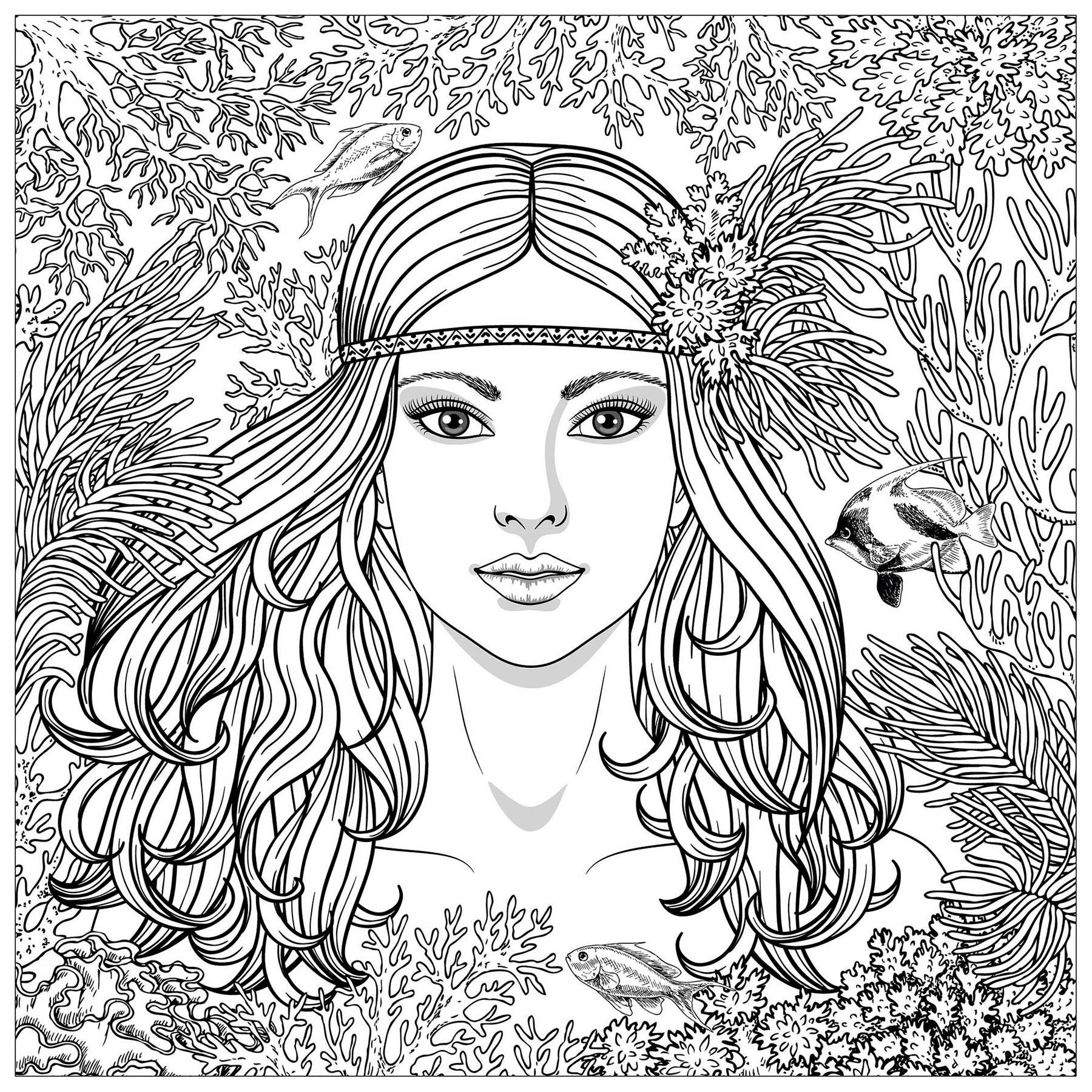 Meerjungfrauen 26920 Meerjungfrauen Malbuch Fur Erwachsene