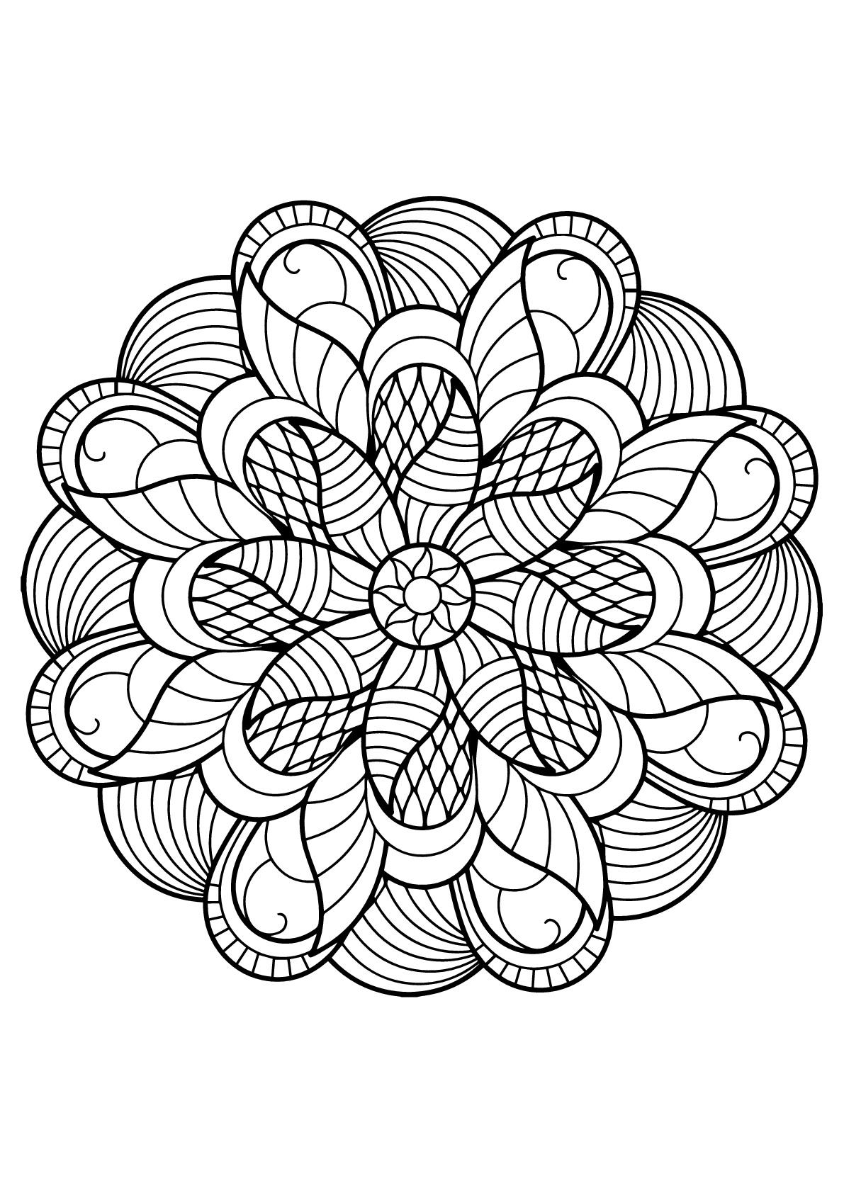 Mandala Livre Gratuit 6 Mandalas Coloriages Difficiles