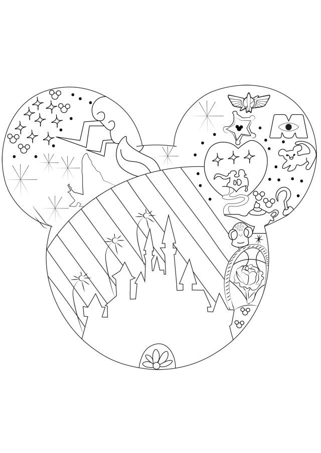 24+] Coloriage Adulte Disney A Imprimer