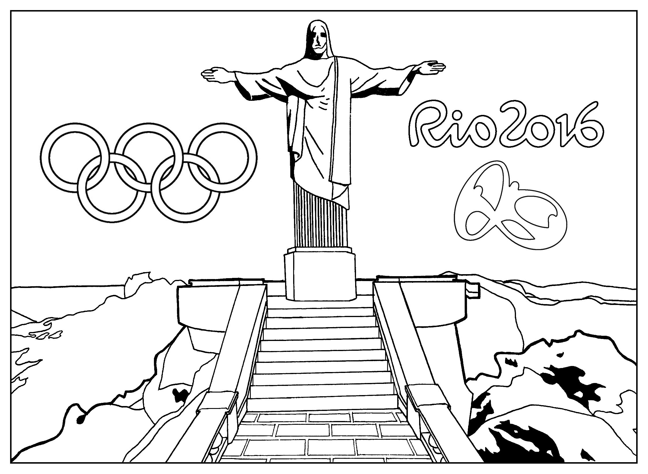 Coloriage Mario Et Sonic Aux Jeux Olympiques De Rio
