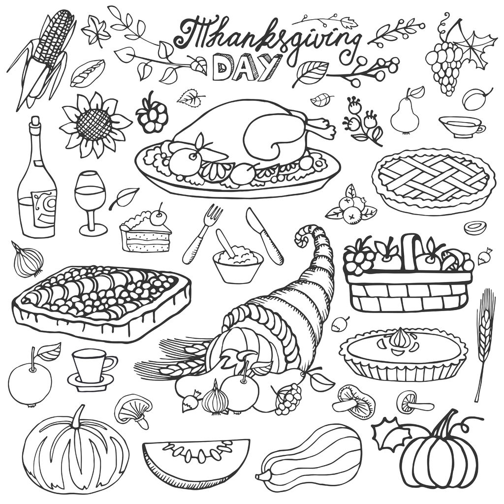 Thanksgiving Corne D Abondance Et Dinde