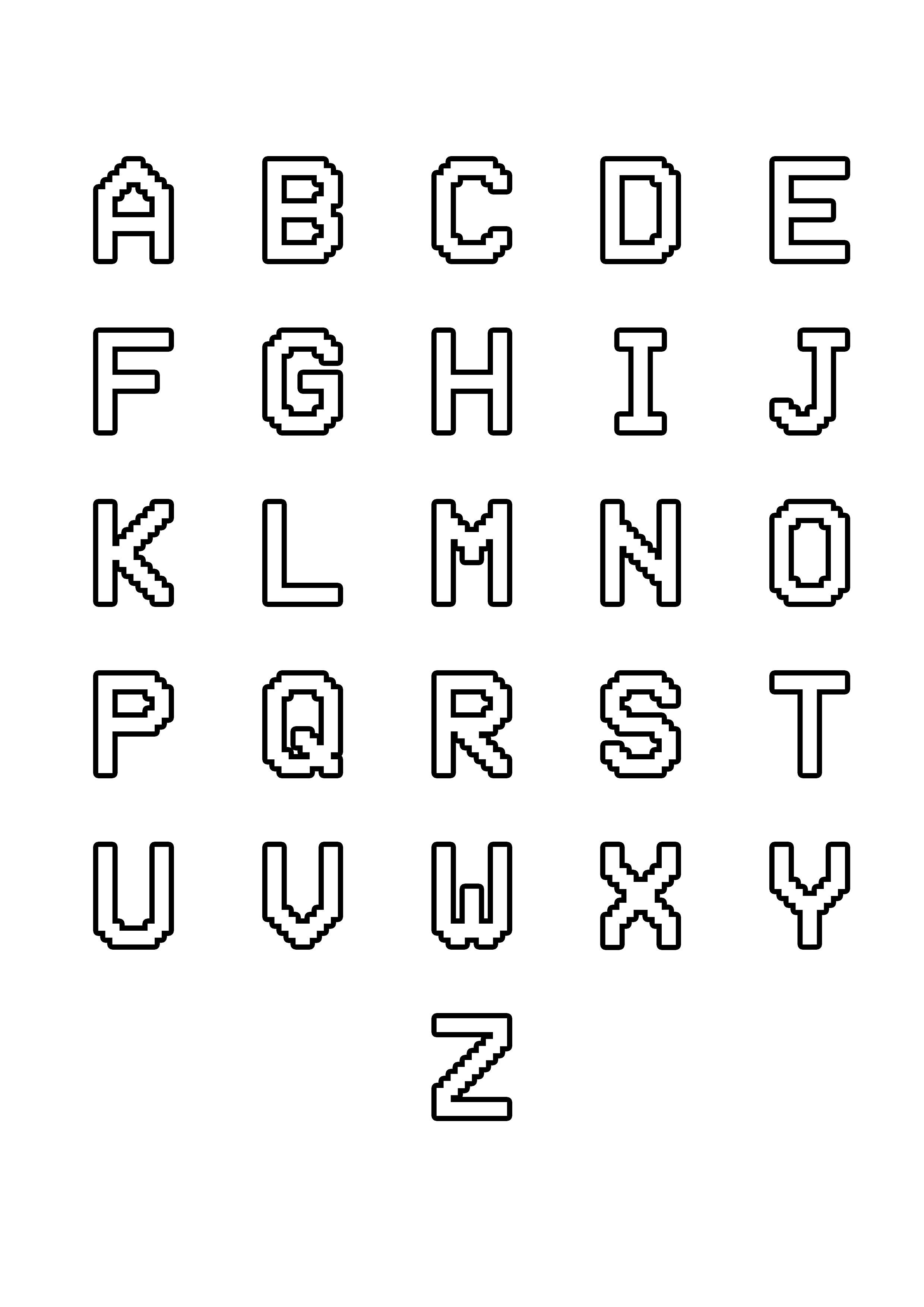 Alphabet Free To Color For Kids From A To Z
