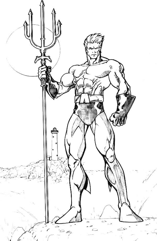 aquaman coloring pages # 3