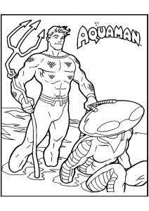 aquaman coloring pages # 16
