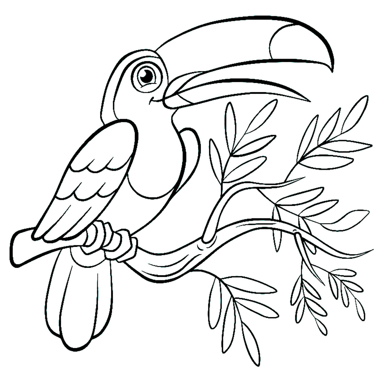Birds To Color For Children