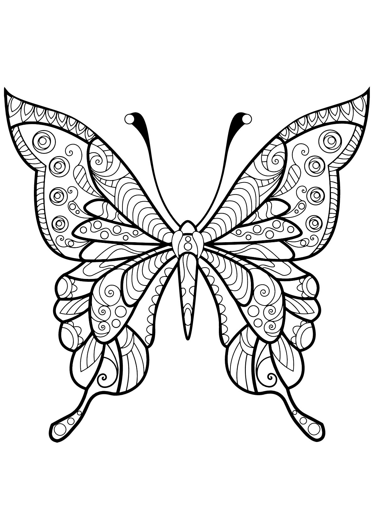 Butterflies Free To Color For Kids Butterflies Kids