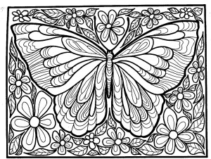 Butterflies Free Printable Coloring Pages For Kids