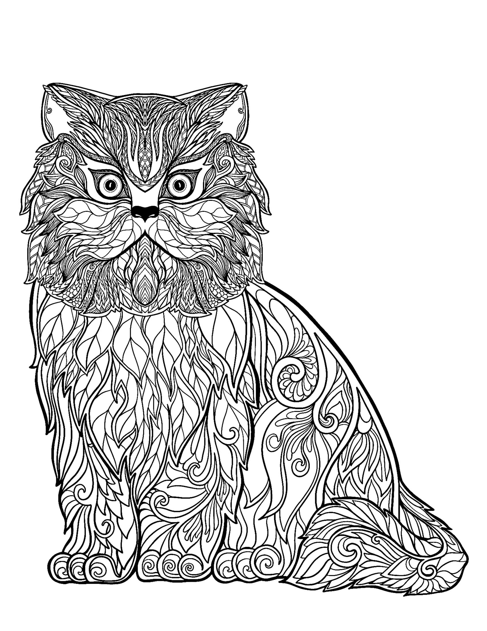 Cats Free To Color For Kids