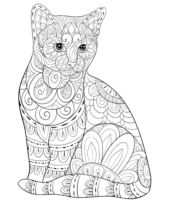 Cats to color for kids - Cats Kids Coloring Pages