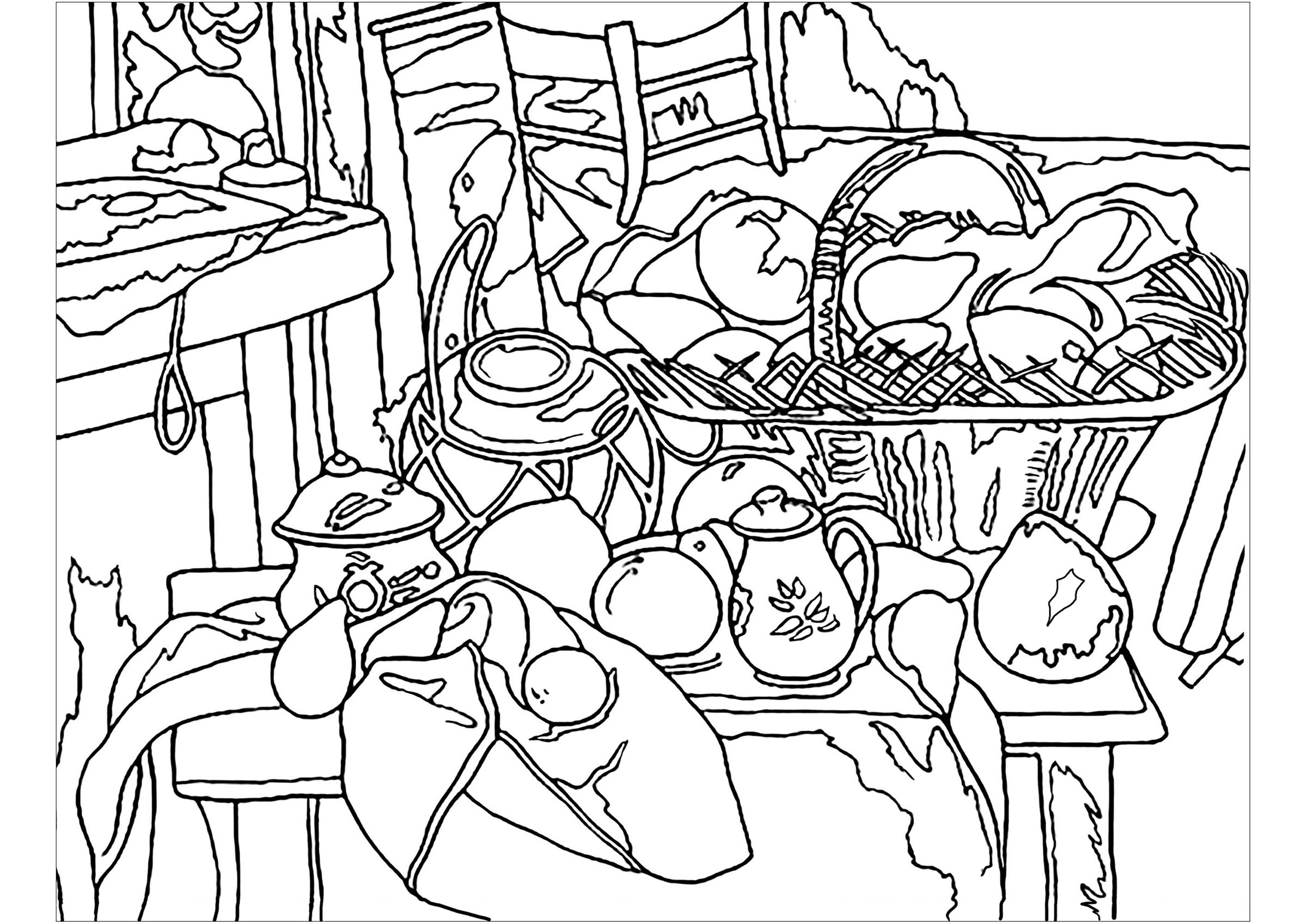 Paul Cezanne Free To Color For Kids