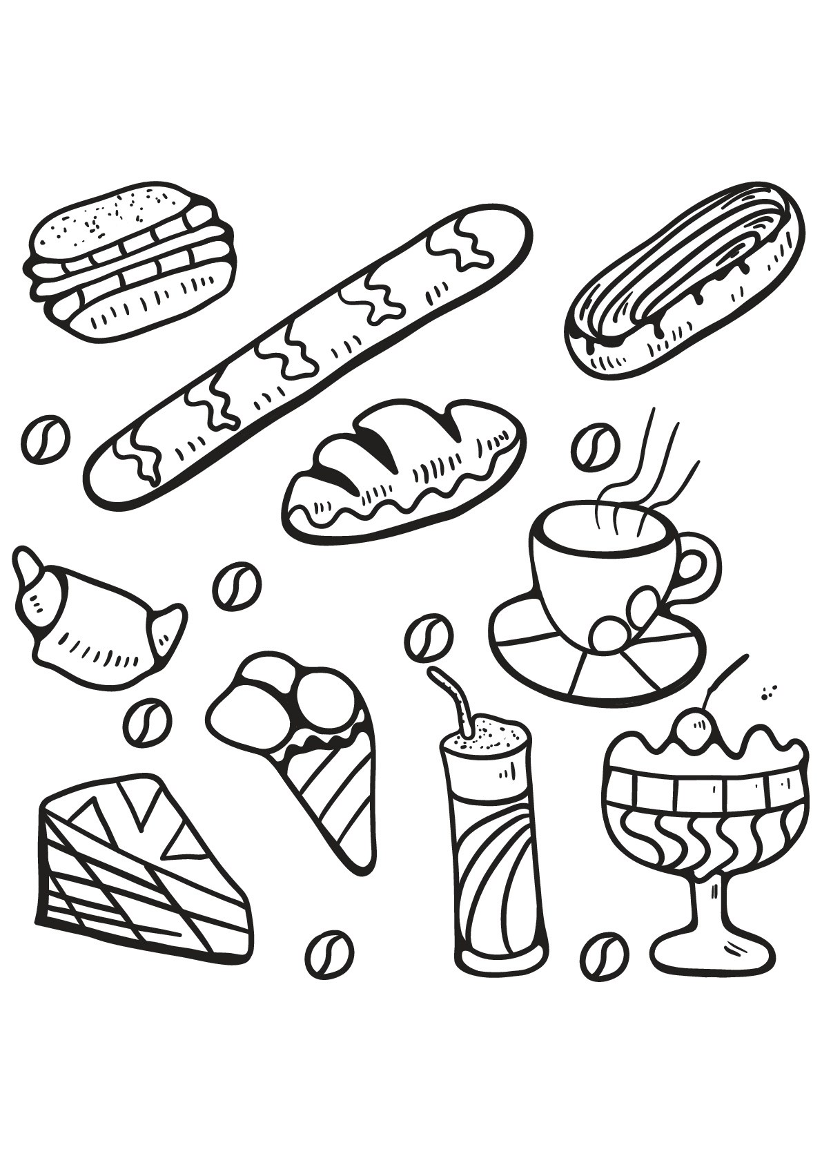 Cupcakes And Cakes To Print For Free