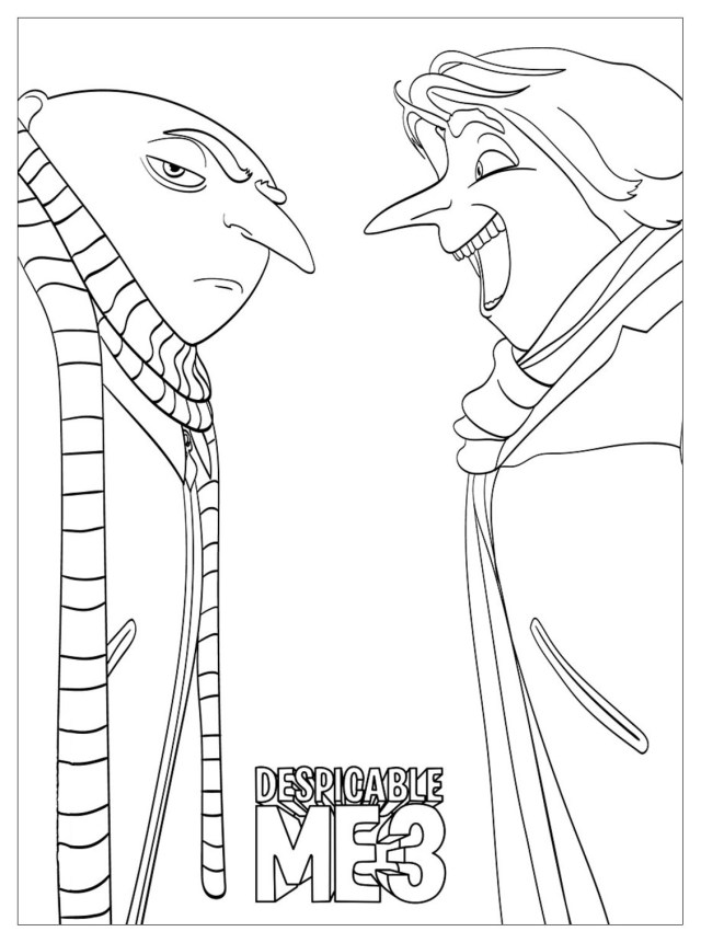 Despicable me to print for free - Despicable Me Kids Coloring Pages