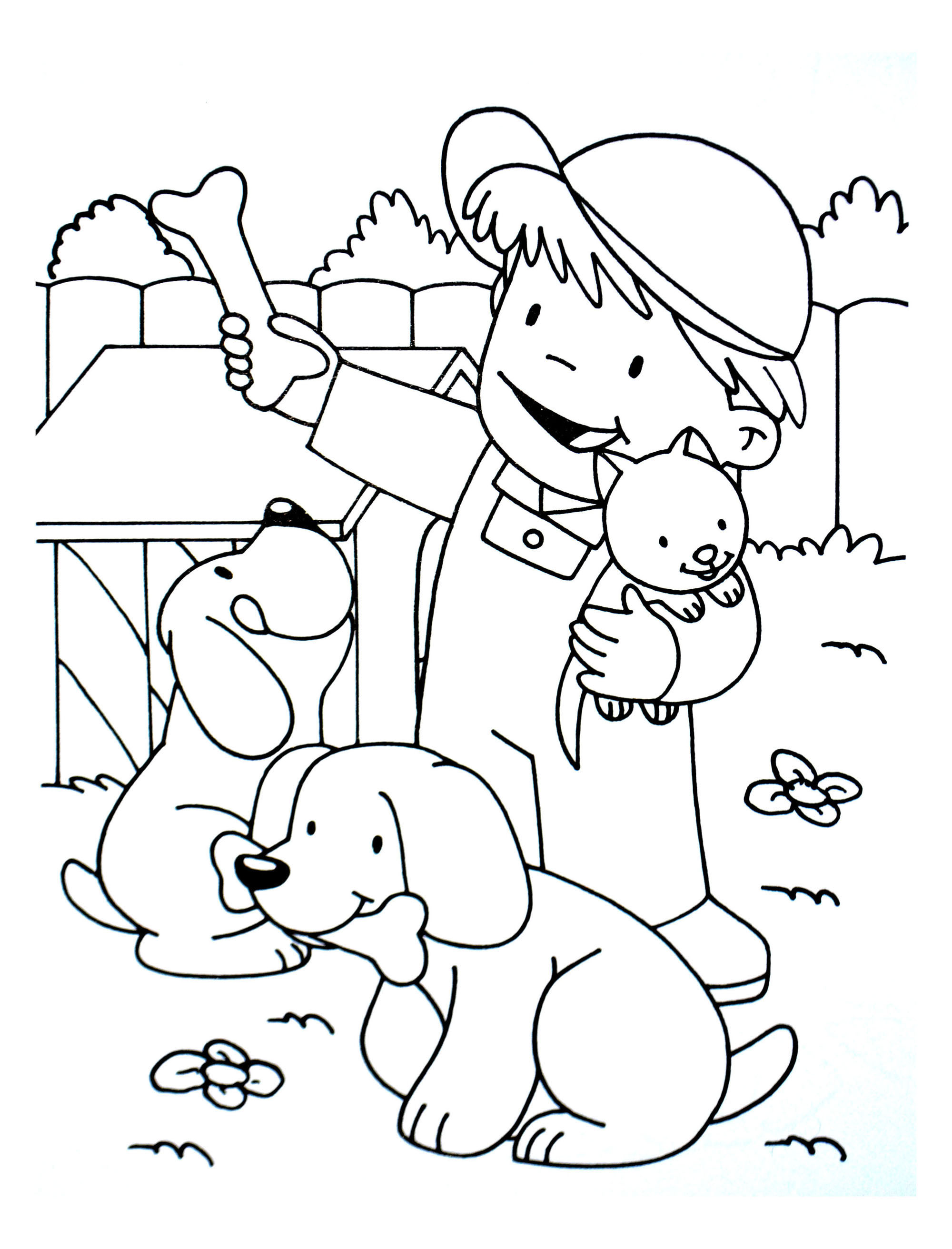 Dogs To Color For Children