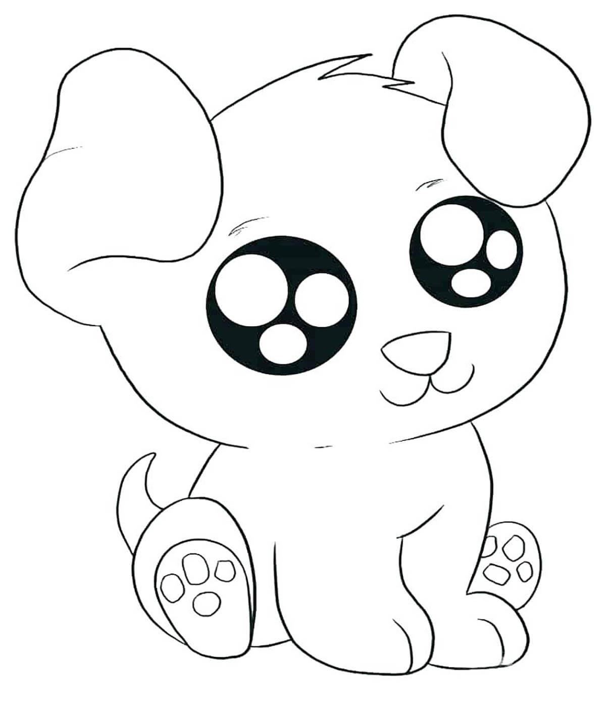 Dogs To Print Kawai Dog