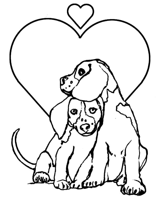 coloring pages dog # 1