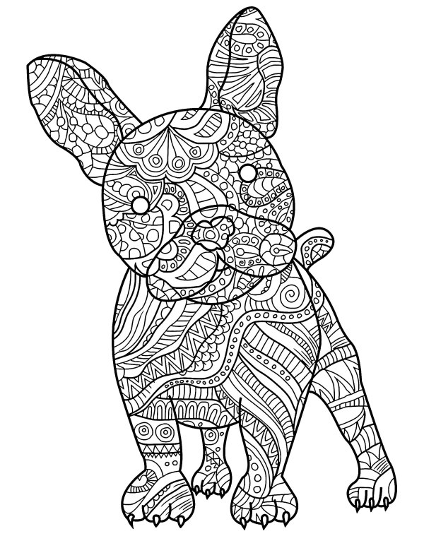 free dog coloring pages # 7