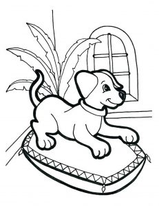free dog coloring pages # 12