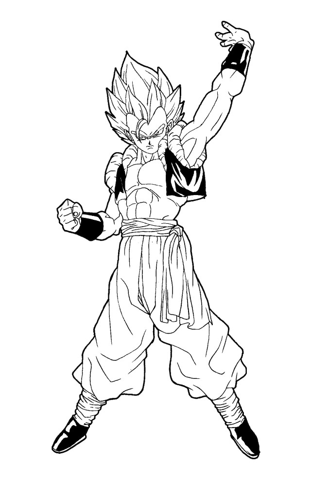Gogeta - Dragon Ball Z Kids Coloring Pages