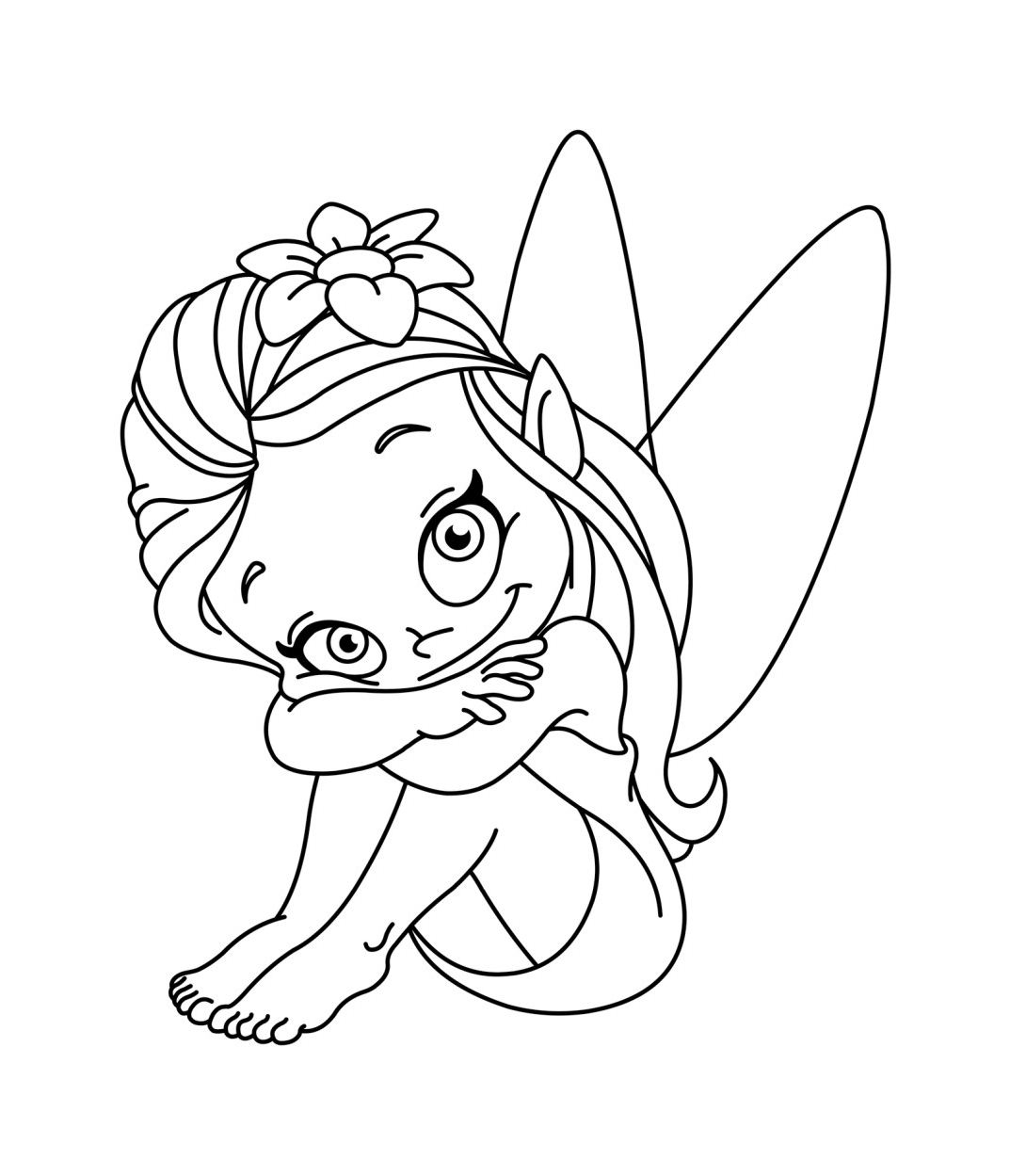 Fairy Free To Color For Kids Fairy Kids Coloring Pages