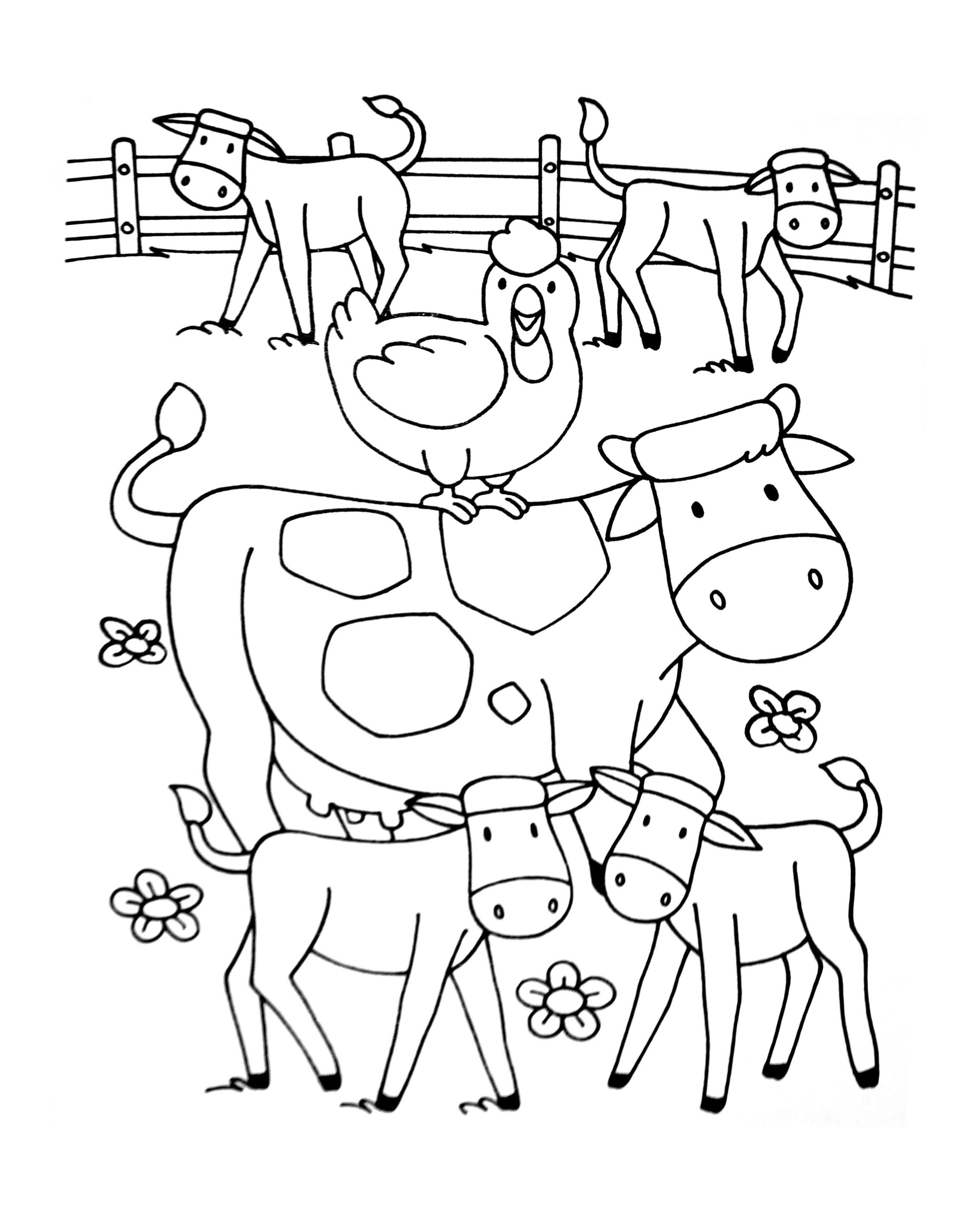 Farm To Color For Children
