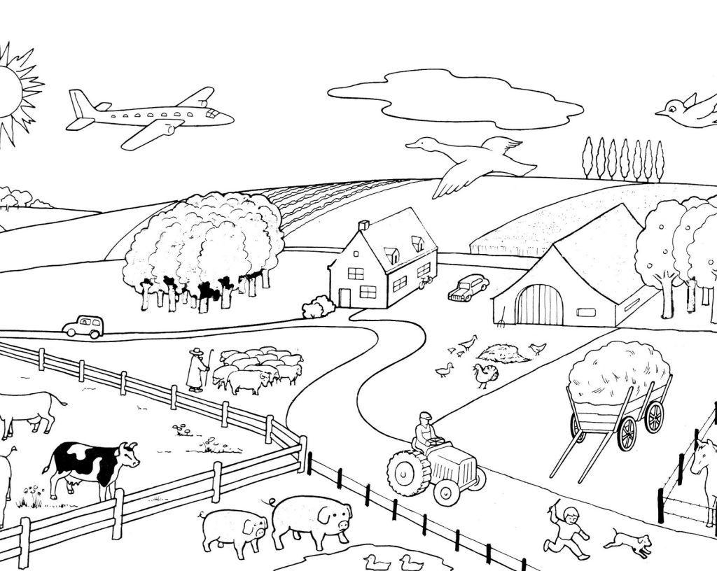 Farm To Color For Children Farm Kids Coloring Pages