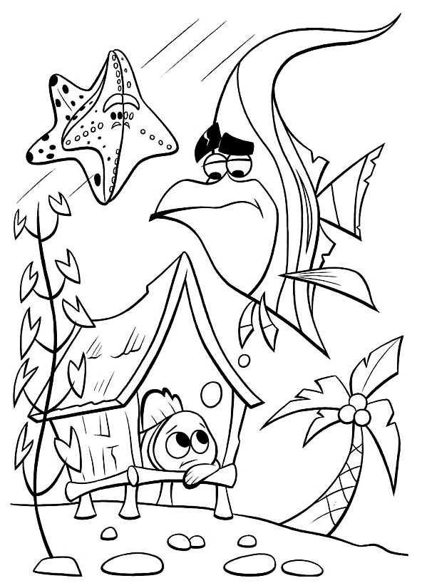 finding nemo coloring page # 10