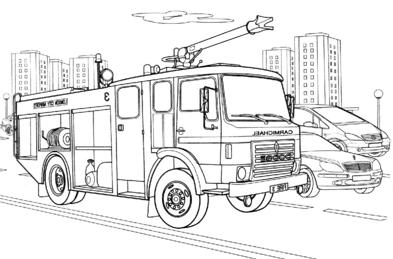Fire Department To Color For Kids