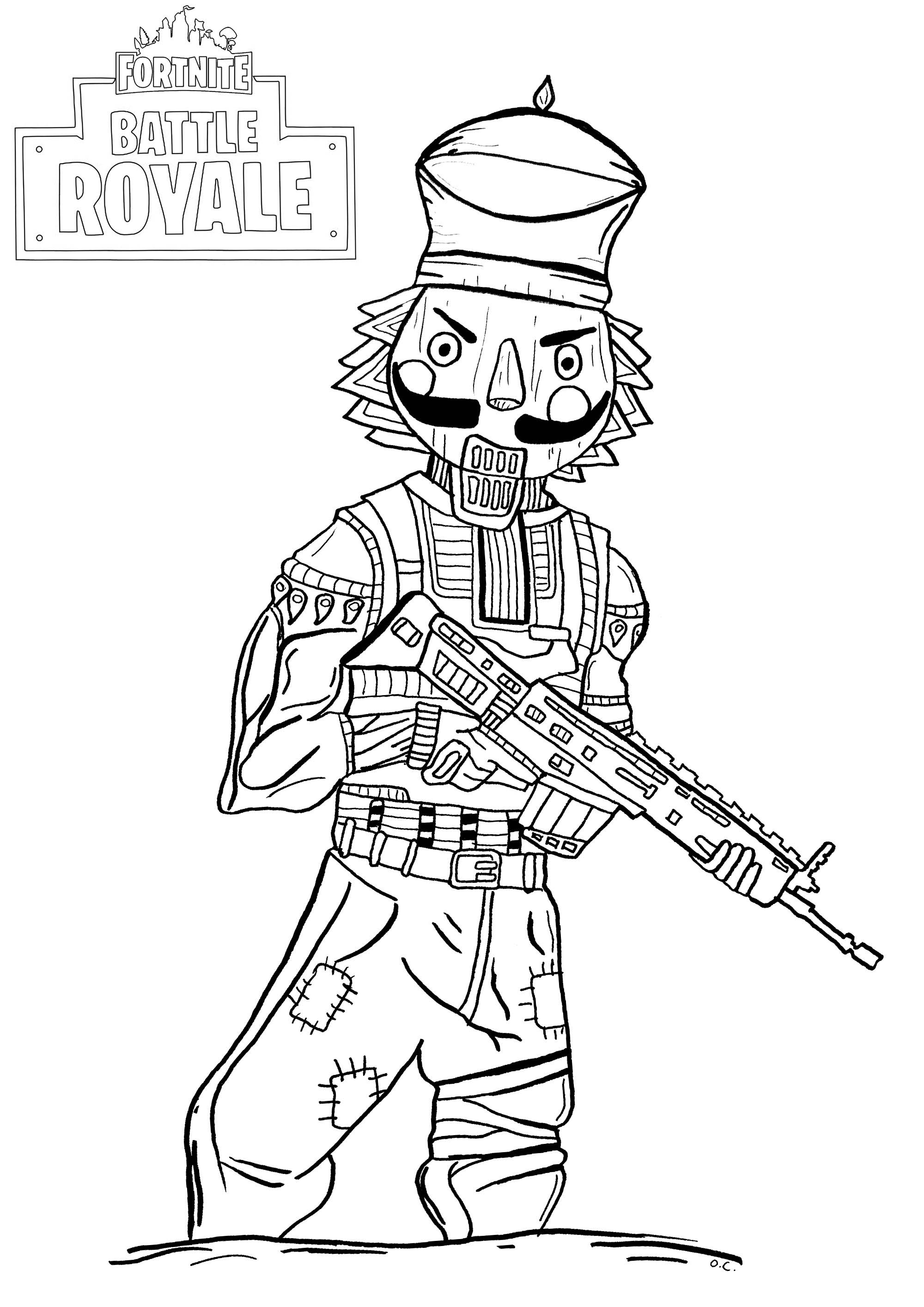 Fortnite Battle Royale Crackshot Fortnite Battle Royale Kids Coloring Pages