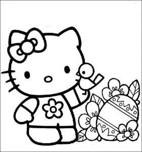 hello kitty free coloring pages # 3