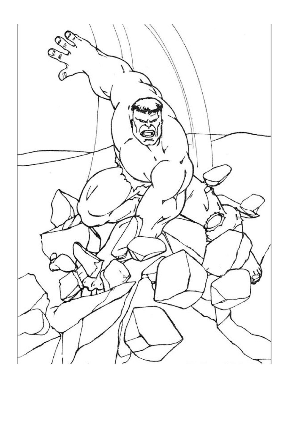 Hulk To Download Hulk Kids Coloring Pages