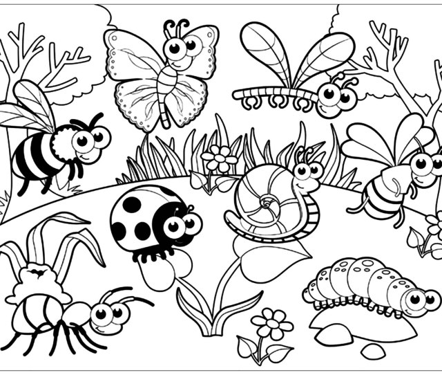 Insects To Print Insects Kids Coloring Pages