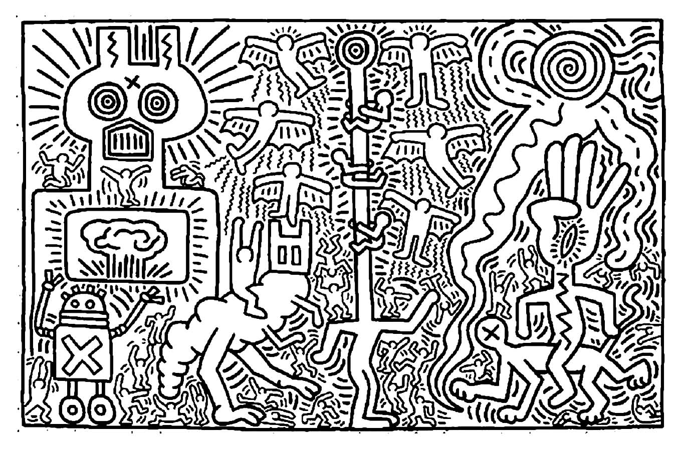 Keith Haring To Color For Kids