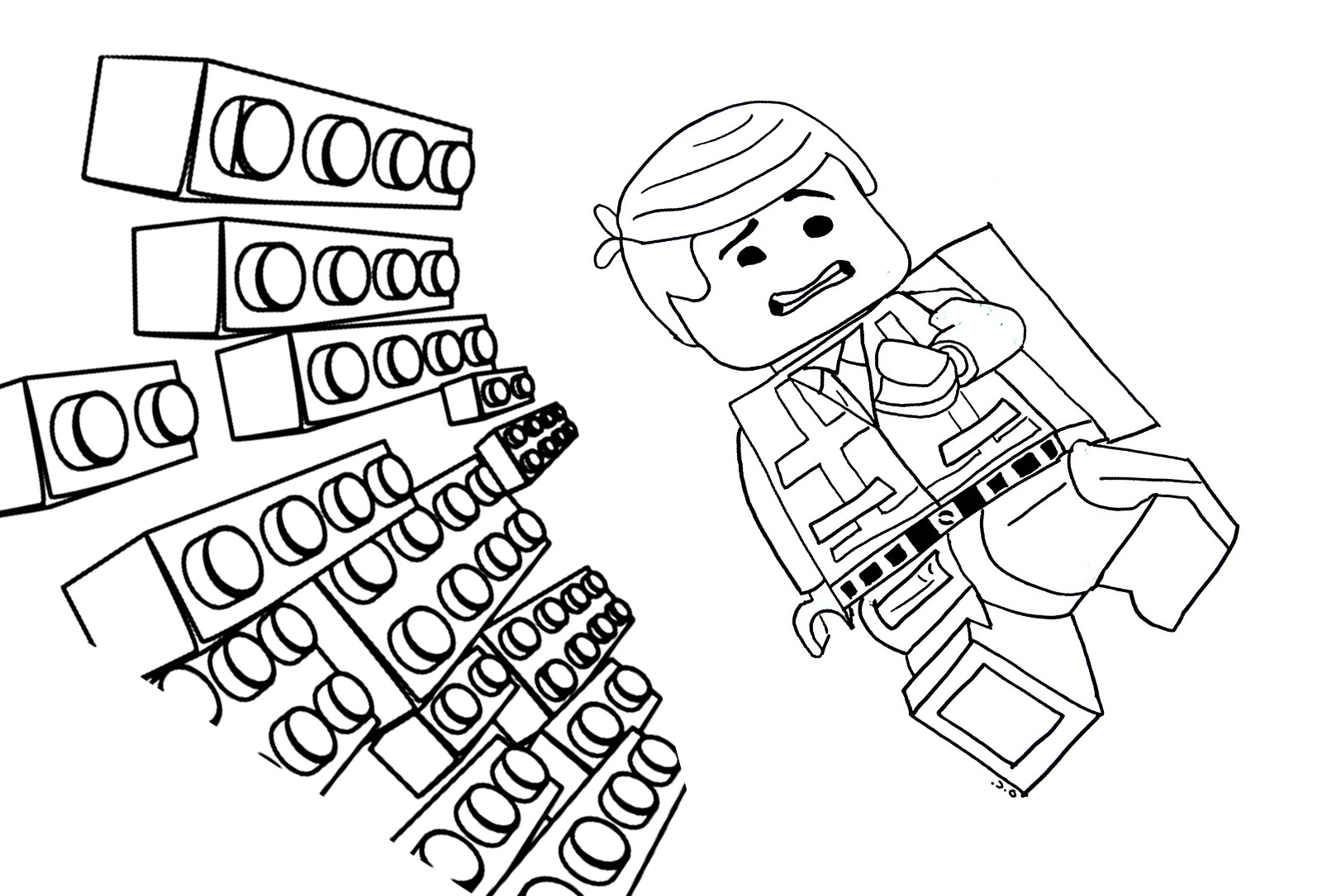 Lego The Big Adventure Free To Color For Kids