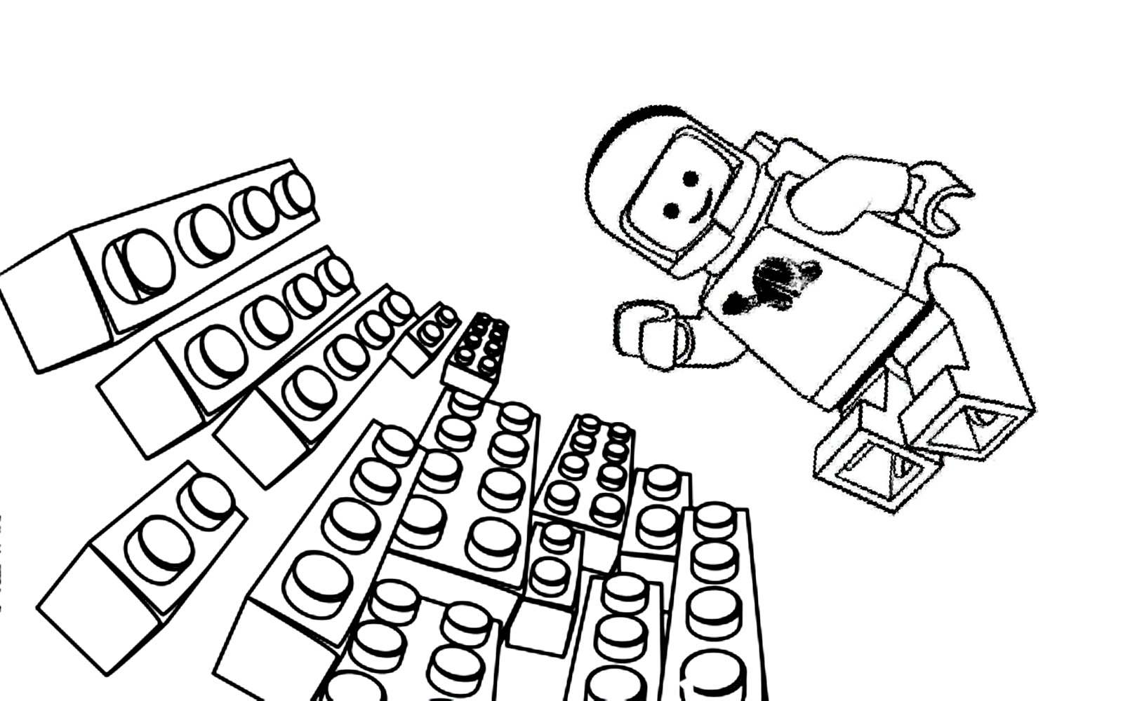 Lego The Big Adventure To Color For Children