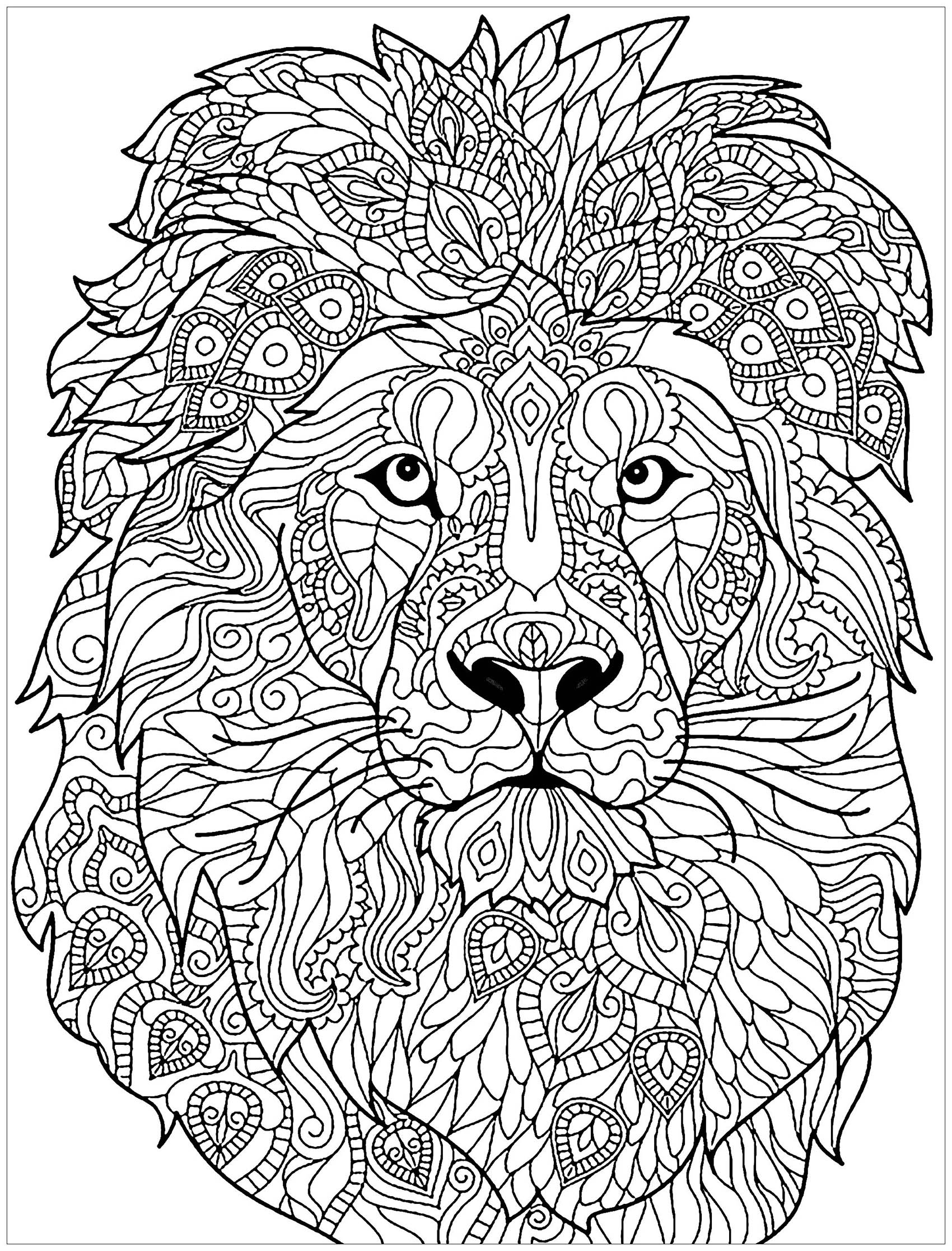 Lion Free To Color For Kids Lion Kids Coloring Pages