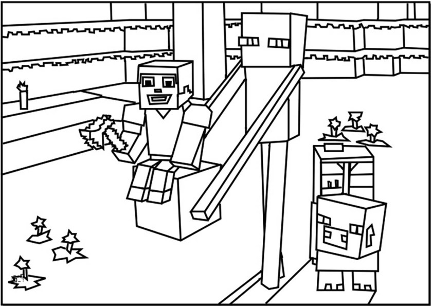 minecraft for kids  minecraft kids coloring pages