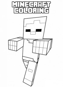 minecraft coloring pages to print # 7