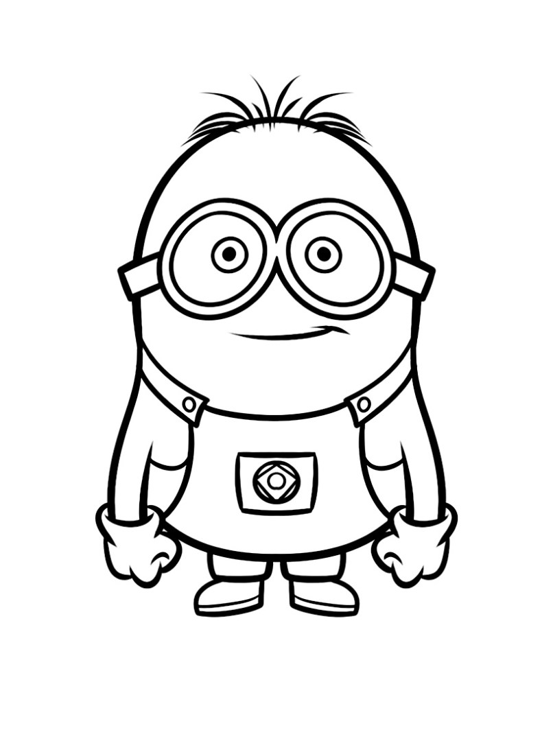 Pictures Of Minions To Color And Print Djiwallpaperco Coloring For Kids 23281 Minion Outline Bob Elegant