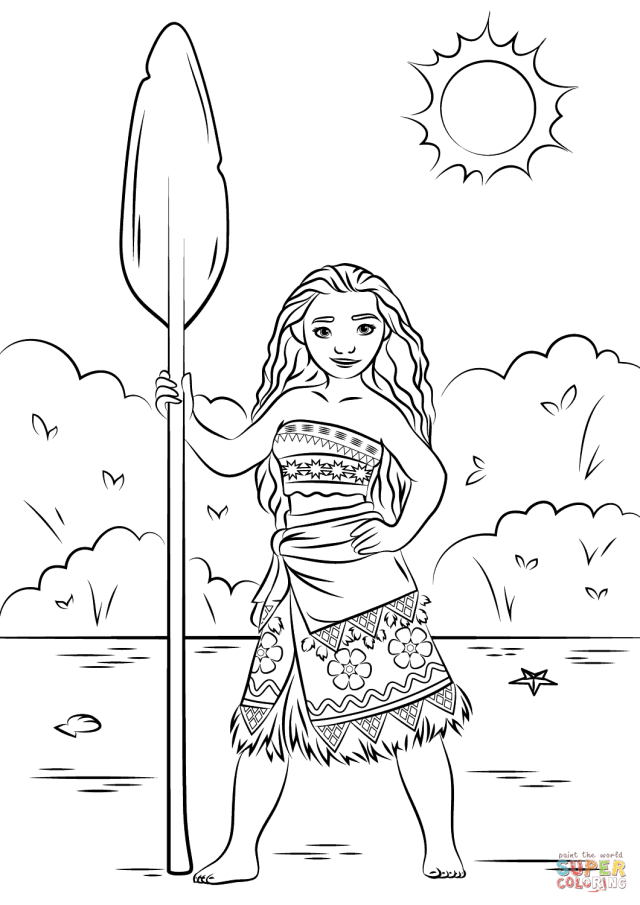 Moana to download - Moana Kids Coloring Pages