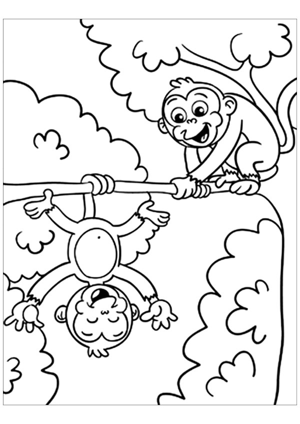 coloring pages of monkeys # 7