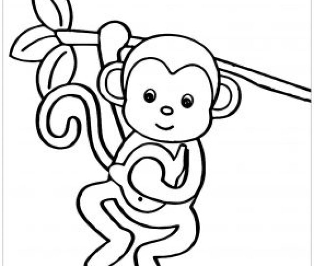 Monkeys Free Printable Coloring Pages For Kids
