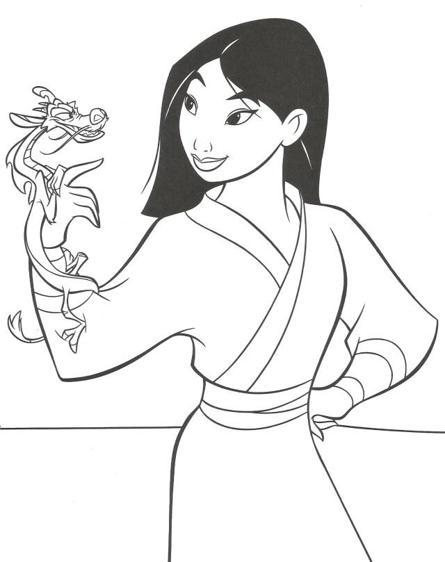 Mulan to download for free - Mulan Kids Coloring Pages