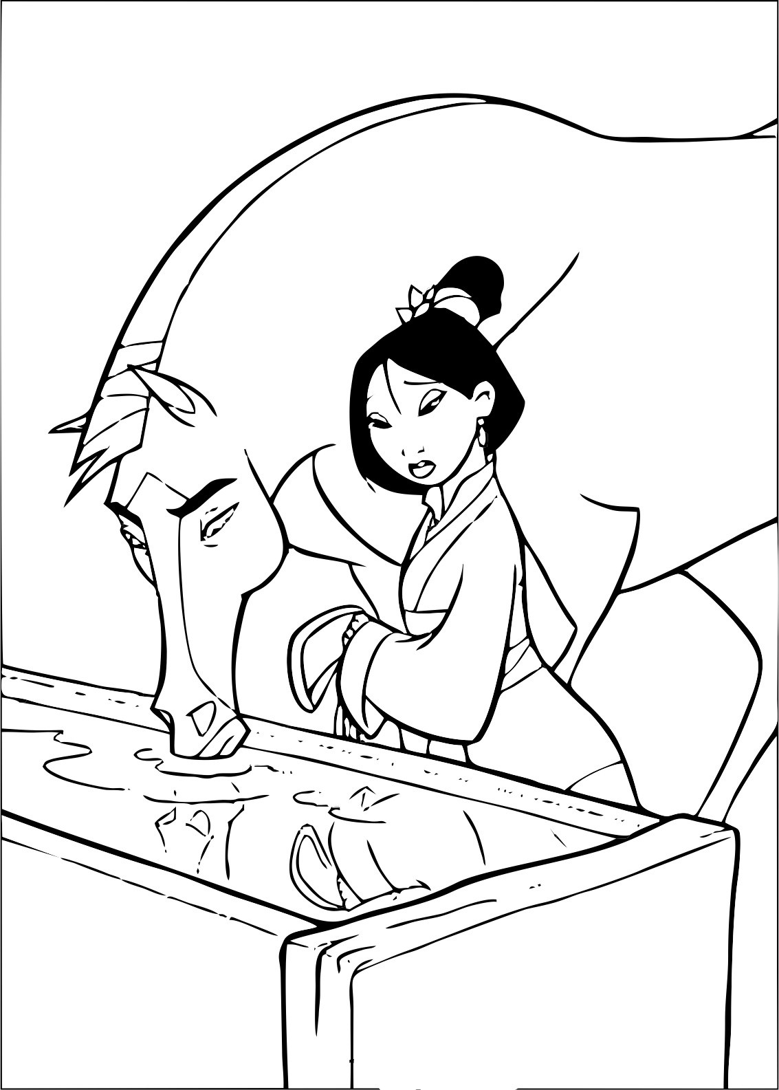 Mulan Free To Color For Children
