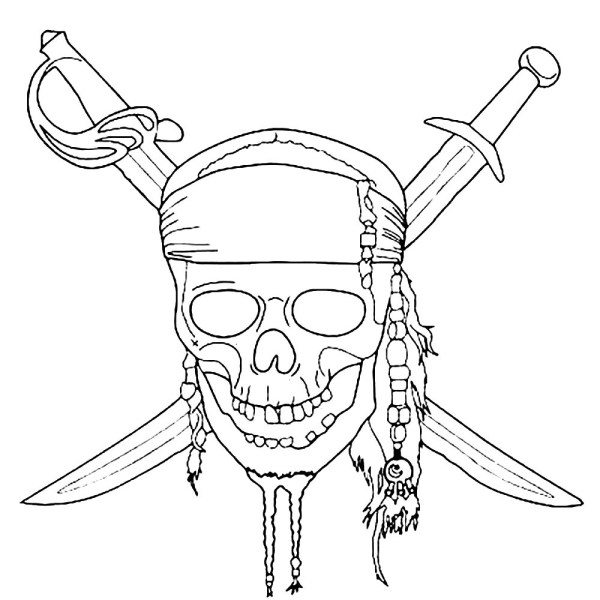 pirates of the caribbean coloring pages # 3